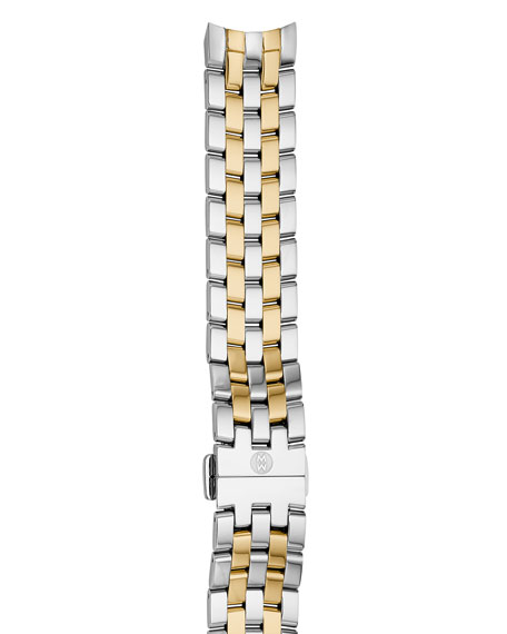 MICHELE Belmore 18mm Two-Tone Bracelet Strap