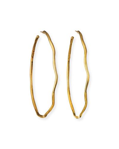 18k #6 Glamazon Squiggle Hoop Earrings