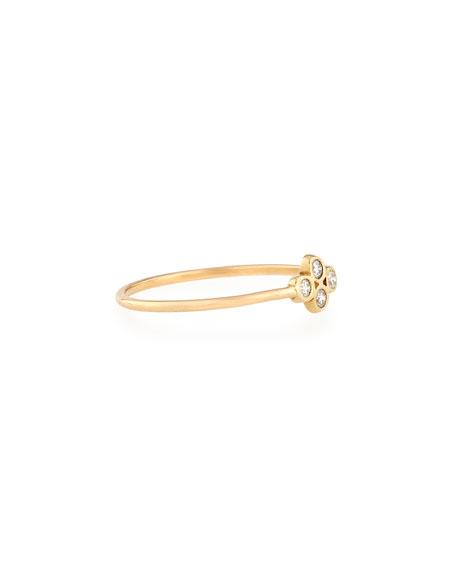 14K Gold Diamond Quad Ring