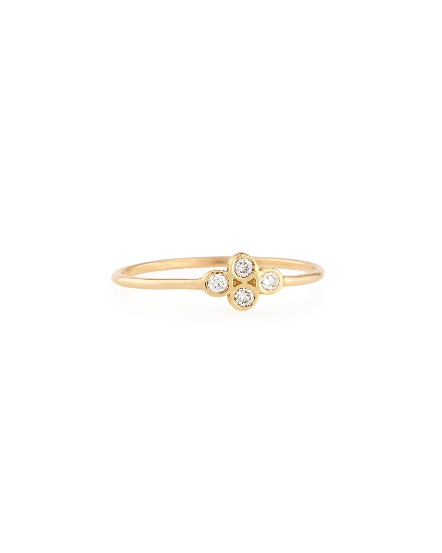Zoë Chicco 14K Gold Diamond Quad Ring szrZSViuf