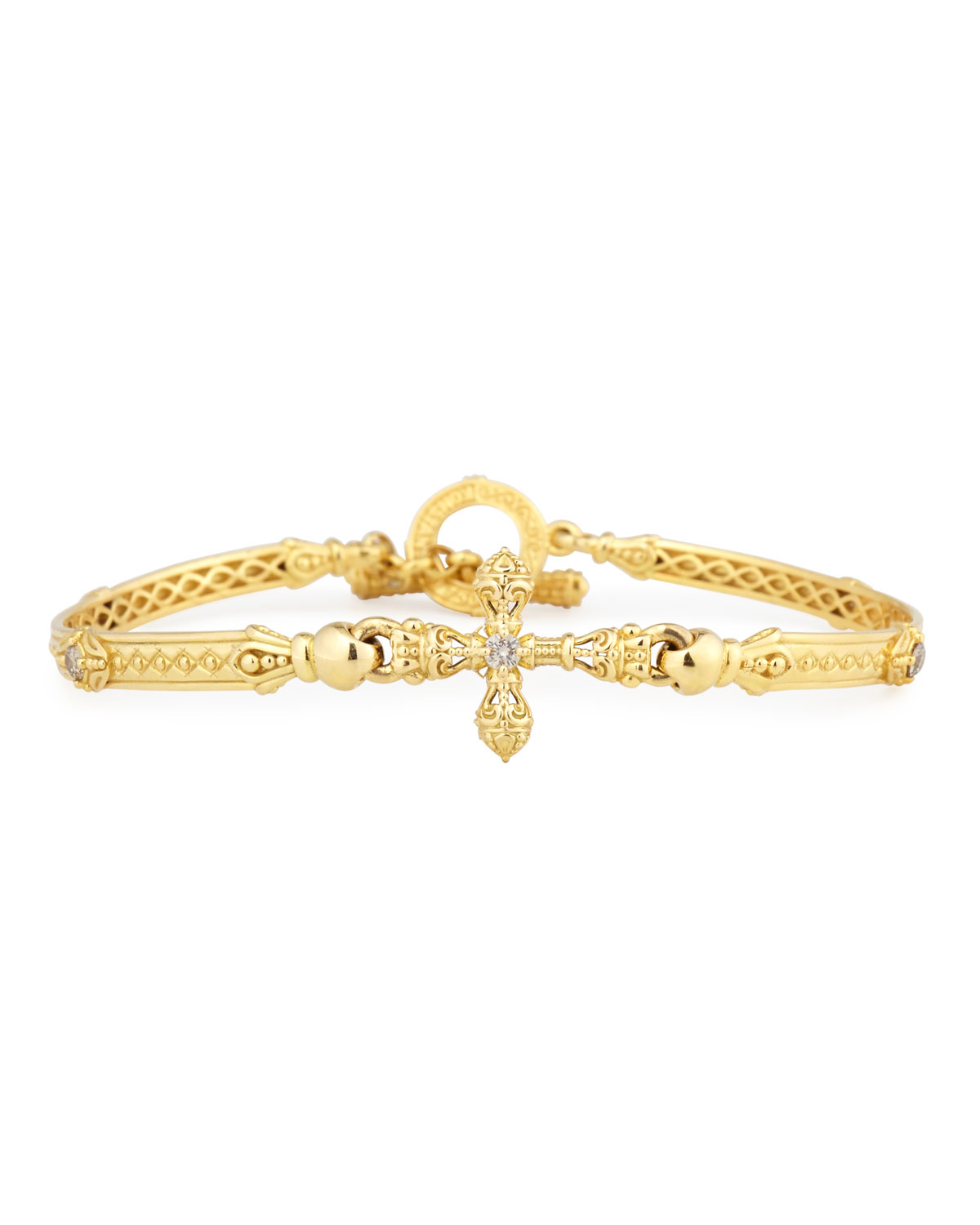 Konstantino Flamenco Cross Station Bracelet with Diamonds