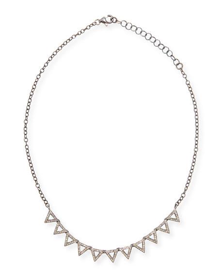 Diamond Triangle Necklace