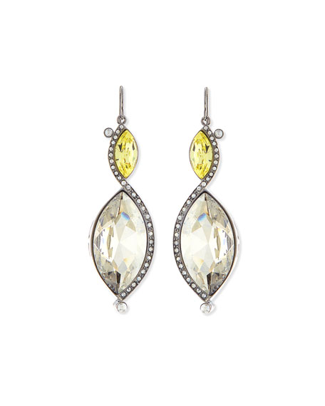 Marquise-Cut Multi Tonal Crystal Drop Earrings