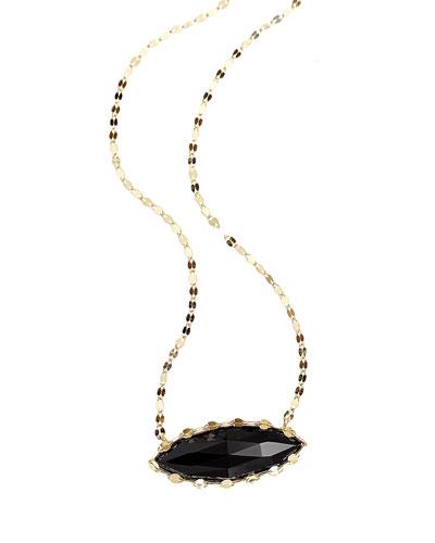 Noir Onyx Marquis Pendant Necklace