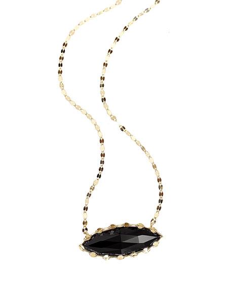 LANA Noir Onyx Marquis Pendant Necklace