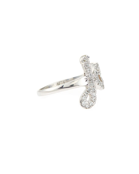 14K Gold Monogram Ring with Diamonds