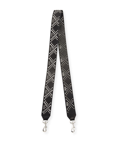 Eyelet Guitar Strap for Handbag, Black