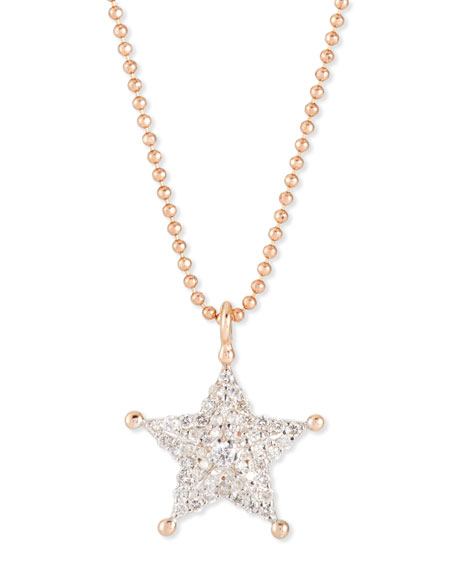 Sheriff Star 14K Rose Gold & Diamond Pendant Necklace