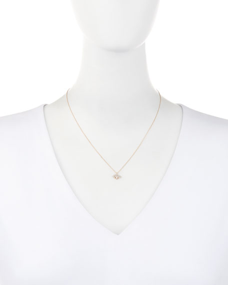Protect Me 14K Rose Gold & Diamond Evil Eye Necklace