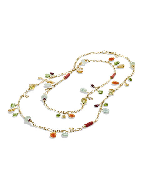 Bead Collection Briola 18k Dangle Necklace, 36""