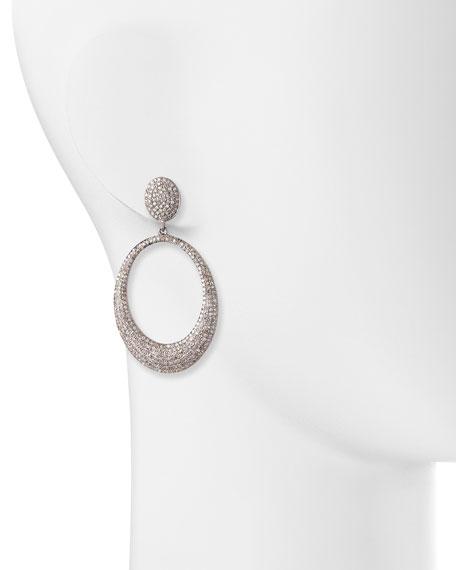 Pavé Diamond Doorknocker Hoop Earrings