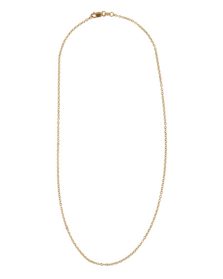 "18k Yellow Gold Petite Chain Necklace, 16""L"