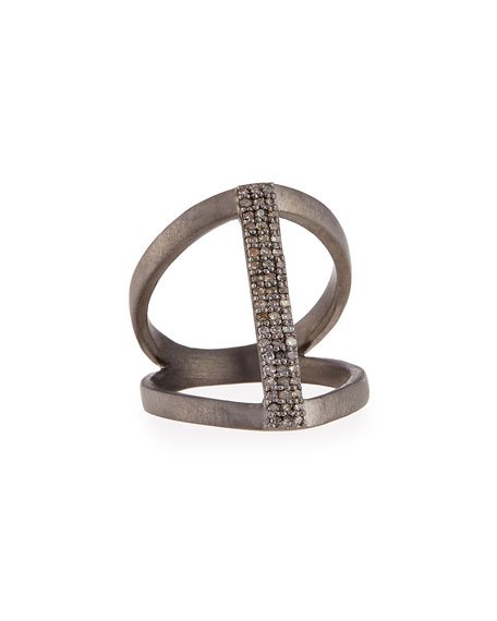 Vertical Diamond Bar Ring, Size 6.5