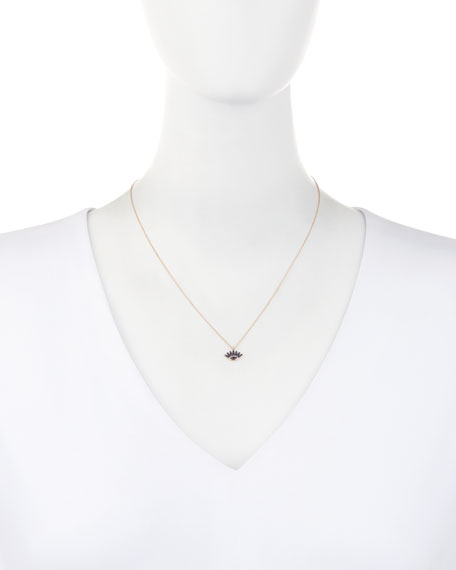 Protect Me 14K Rose Gold & Sapphire Evil Eye Necklace