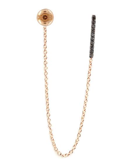 Lumiere Black Diamond Stud & Chain Earring
