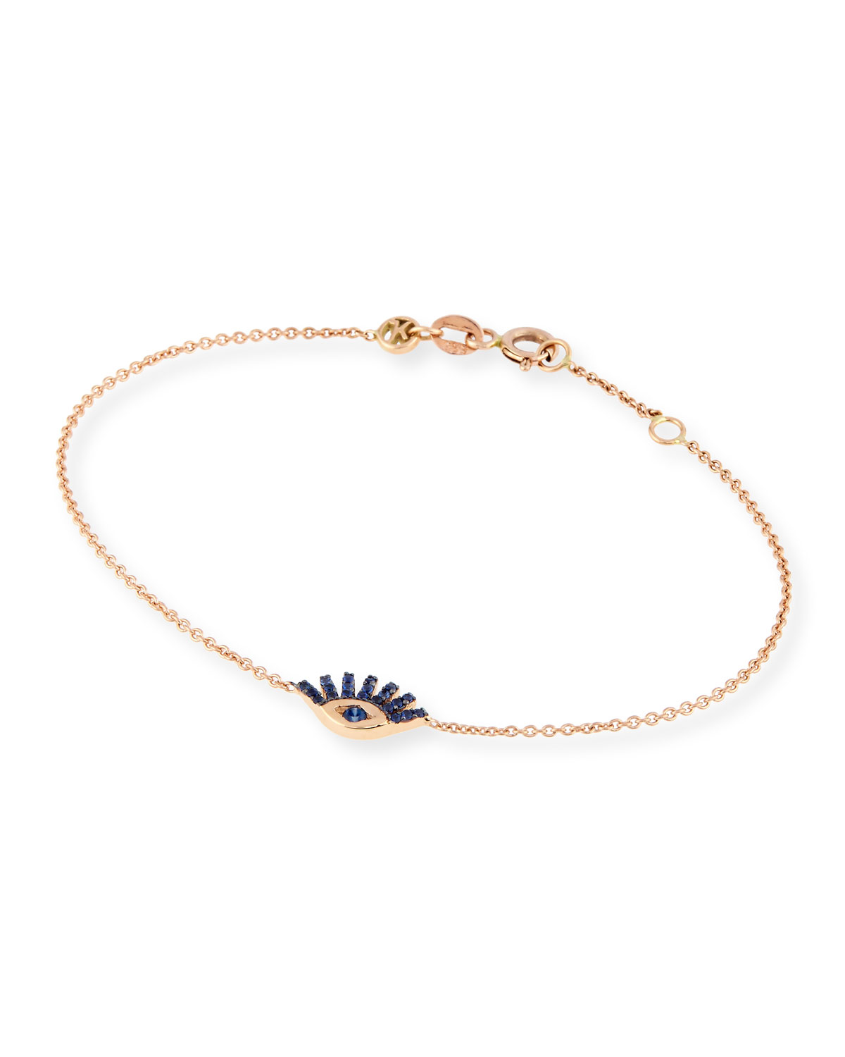 Protect Me 14k Rose Gold Shire Evil Eye Bracelet