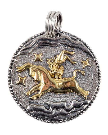 Konstantino Taurus Carved Zodiac Pendant