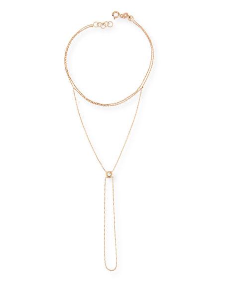 Beads 14K Rose Gold & Diamond Hand Piece