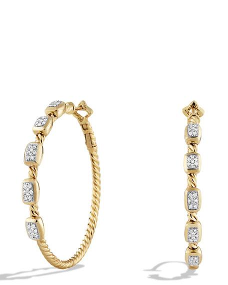 Confetti Diamond Hoop Earrings