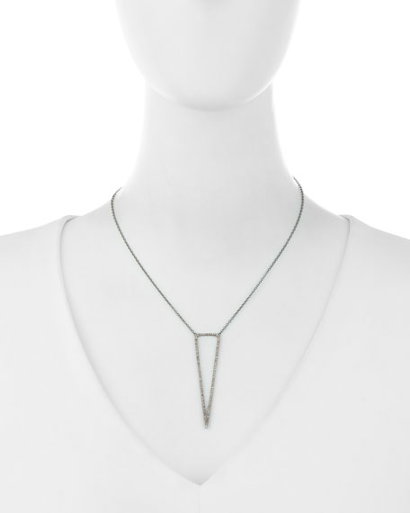 Open Diamond Dagger Pendant Necklace