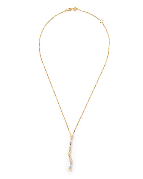 18K Glamazon Stardust Flexible Linear Pendant Necklace with Diamonds