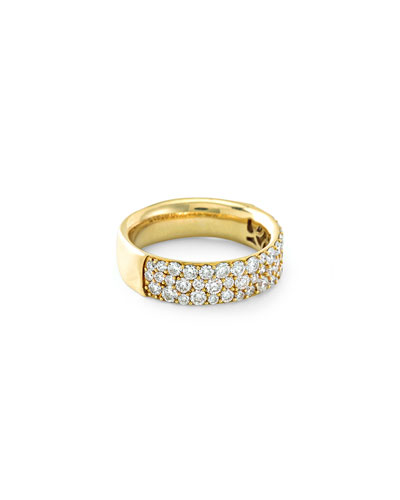 18K Glamazon Stardust Pave Diamond Ring  Size 7