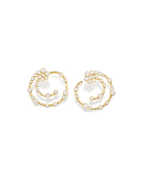 18K Glamazon Stardust Open Hoop Earrings with Diamonds