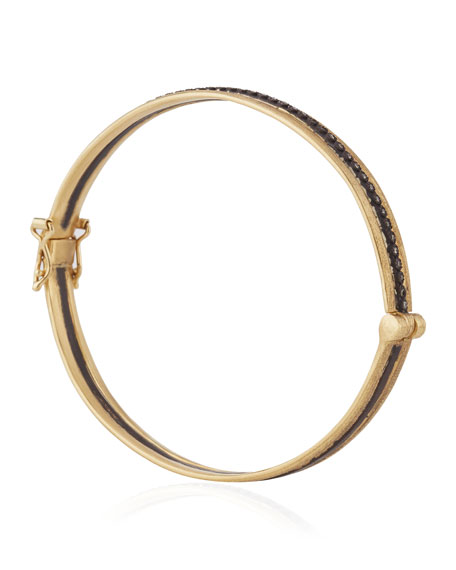 Old World Single-Row Huggie Bracelet with Champagne Diamonds