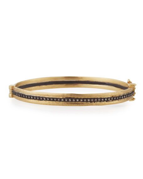 Old World Single-Row Huggie Bracelet with Champagne Diamonds