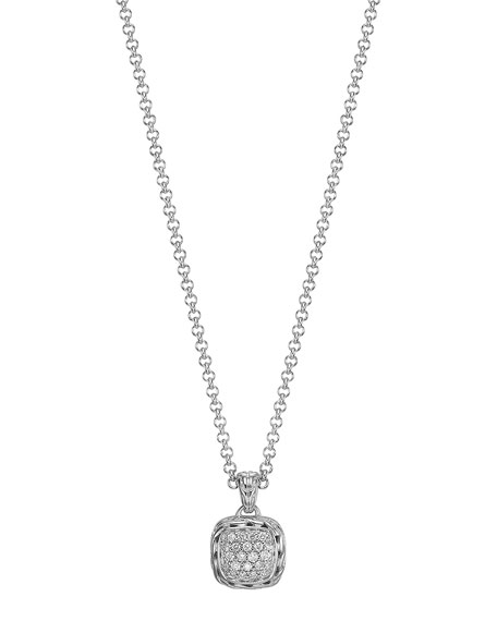 John Hardy Batu Chain Diamond Pendant Necklace