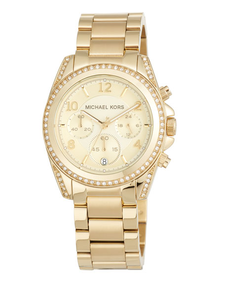 MICHAEL Michael Kors 39mm Mini Blair Glitz Chronograph