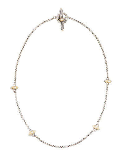 Amphitrite Freshwater Pearl Station Necklace