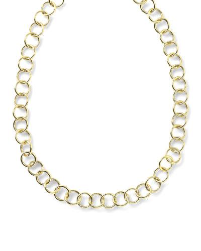 18K Glamazon Round Link Necklace, 17