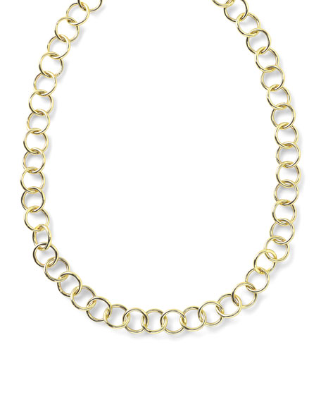 18K Glamazon Round Link Necklace, 17""