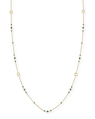 Delicate Blue Diamond Layering Necklace, 42