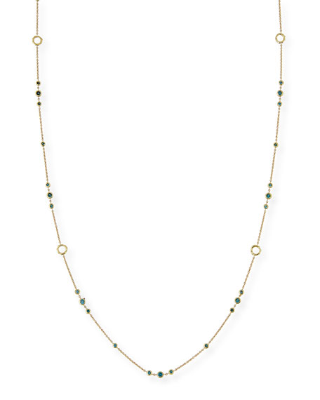 Delicate Blue Diamond Layering Necklace, 42""