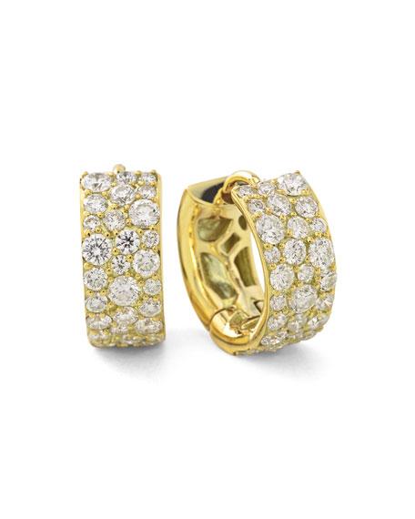 18K Glamazon Stardust Small Diamond Hoop Earrings