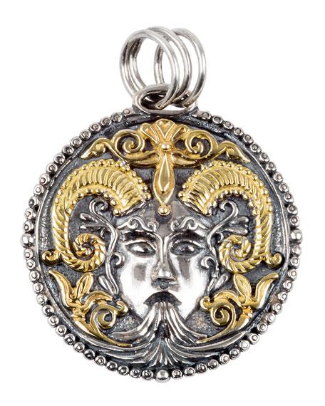 Konstantino Capricorn Carved Zodiac Pendant with Diamond