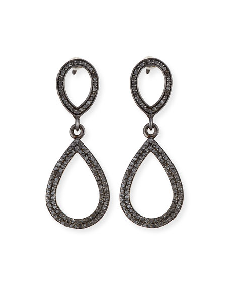 Diamond Double Teardrop Earrings