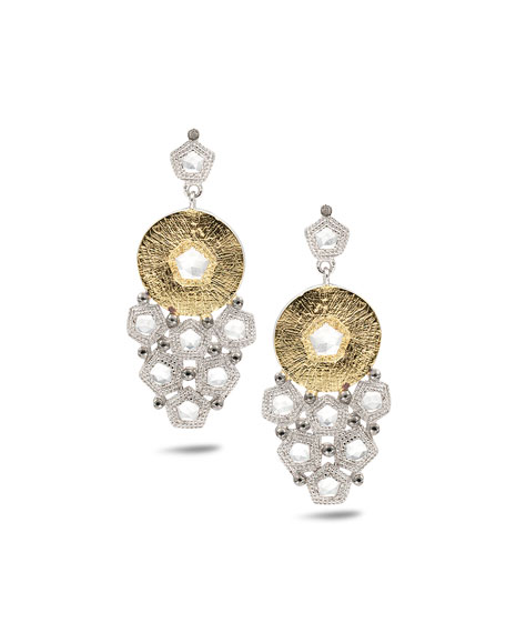 Opera Trickling Crystal & Diamond Earrings