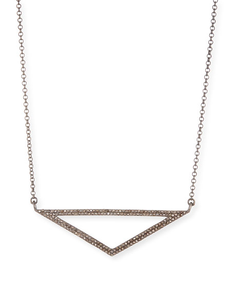 Open Triangle Diamond Pendant Necklace