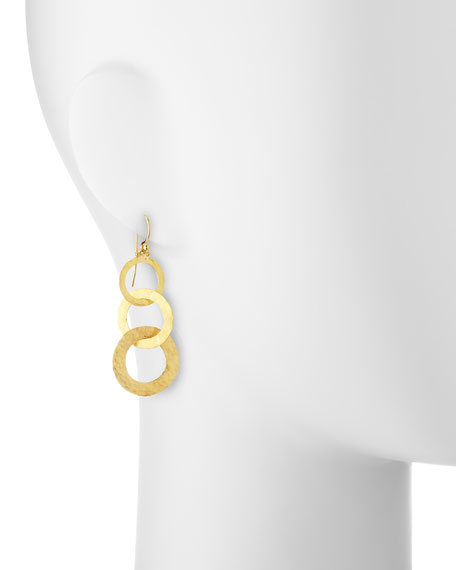 Hoopla 24k Gold Triple Drop Infinity Earrings