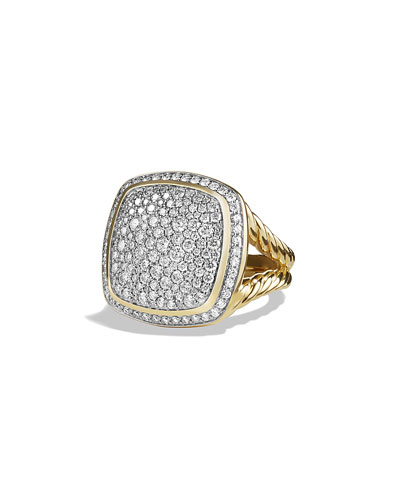 Albion Ring with Diamonds in Gold, Size 7