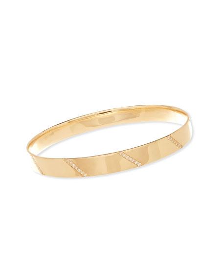 14K Gold Vanity Expose Bangle with Diamonds