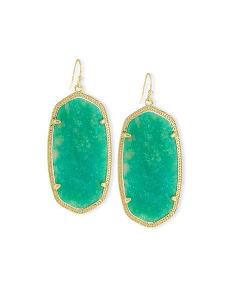 Danielle Earrings, Blue Glass