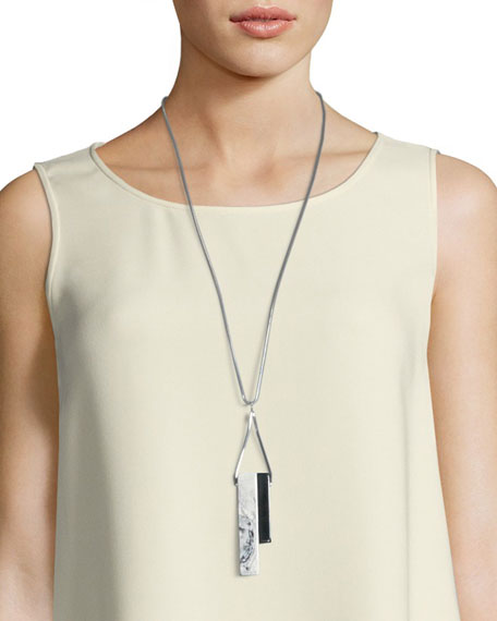 Long Double-Rectangle Necklace