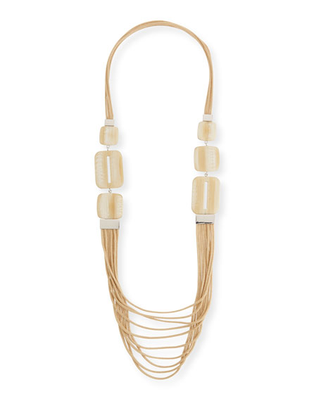 Lafayette 148 New York Marble Block Multi-Strand Necklace