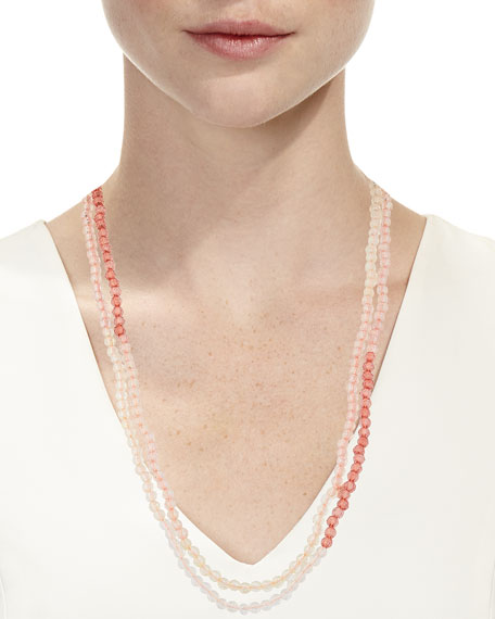 Jet Beaded Necklace, 31""