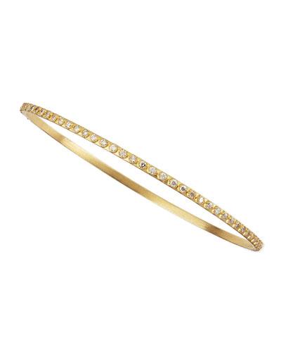 Sueno 18k White Diamond Bangle
