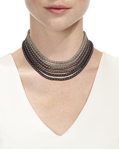 Mesh Net Beaded Statement Necklace